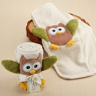 """My Little Night Owl"" Plush Velour Baby Owl Blanket Gift"