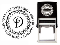 Self-Inking Personalized Monogram Address Stamp - CS3224