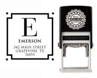Self-Inking Personalized Monogram Address Stamp - CS3605