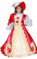 Lady Noble Red Rose Dress Up Costume - Gown & Hat