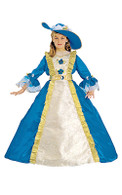 Blue Lady French Aristocrat Dress Up Costume - Gown, Belt & Hat