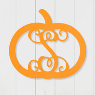 Single Initial Monogram Pumpkin Decoration