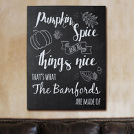 Pumpkin Spice Personalized Wall Canvas