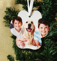 Paw Print Personalized Photo Memorial Christmas Ornament