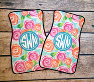 Mary Beth Goodwin Collection - Personalized Front Car Mats (Set of 2)
