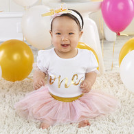My First Birthday 3 Piece Tutu Outfit