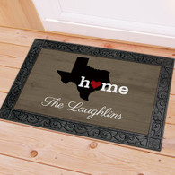 The State of Home Personalized Family Name Doormat  - All 50 States Available Floor Mat, TX