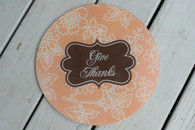 "Tempered Glass 12"" Round Cutting Board - Personalized"