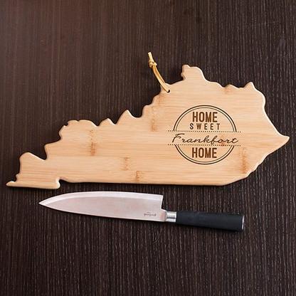 Kentucky State Personalized Cutting Board