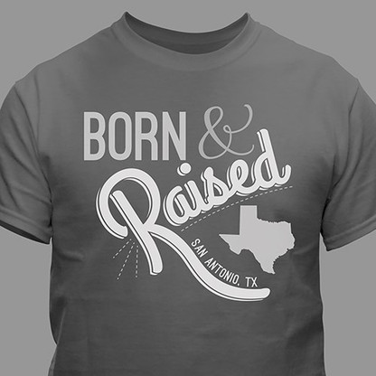 Born and Raised Home State T-shirt