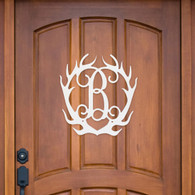 Laser Cut Monogram Antlers Home Decor
