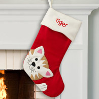 Personalized Cat Design Stocking