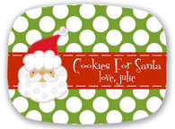 """Cookies For Santa"" Melamine 10x14 Platter"