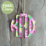 Mary Beth Goodwin Circle Monogram Pendent Necklace - FREE Shipping