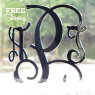 Custom Engraved Vine Monogram Acrylic Cake Topper - Free Shipping