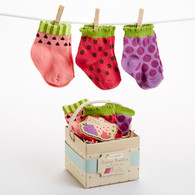 Fruity Booties Fruit Baby Socks Gift Set (Size 0-6 Months)