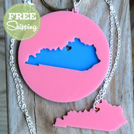 State Love Necklace & Keychain Set with FREE shipping