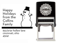 Snowman Self-Inking Personalized Address Stamp - CS3521