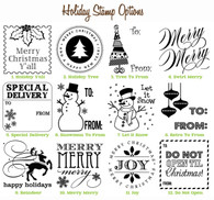 Holiday Mix and Match Stamp Designs - Choose SIX of our designs