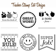 Set of 6 Mix & Match Teacher or Classroom Stamp Designs