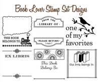 Set of 6 Mix & Match Book Lovers Stamp Designs