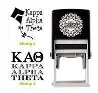Greek Sorority Stamp Set - ΚΑΘ Kappa Alpha Theta