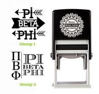 Greek Sorority Stamp Set - ΠΒΦ Pi Beta Phi