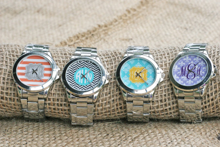 Stainless Steel Watch - Personalized Monogram