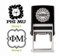 Greek Sorority Stamp Set - ΦΜ Phi Mu
