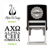 Greek Sorority Stamp Set - ΑΧΩ Alpha Chi Omega