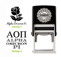 Greek Sorority Stamp Set - AOΠ Alpha Omicron Pi