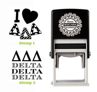 Greek Sorority Stamp Set - ΔΔΔ Delta Delta Delta