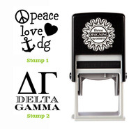 Greek Sorority Stamp Set - ΔΓ Delta Gamma
