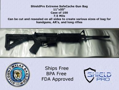 """ShieldPro SafeCache Gun Storage Bag 11""""x55"""" 7.5 mils"""