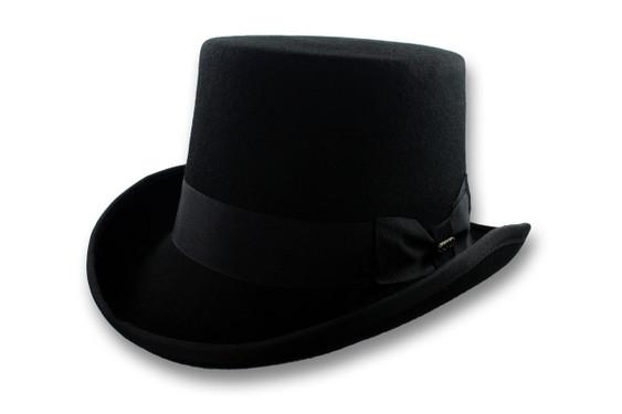 Scala Black Top Hat Topper Wool