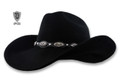 Scala Black Wool Felt Cowboy Hat, Western Concho Studs Band