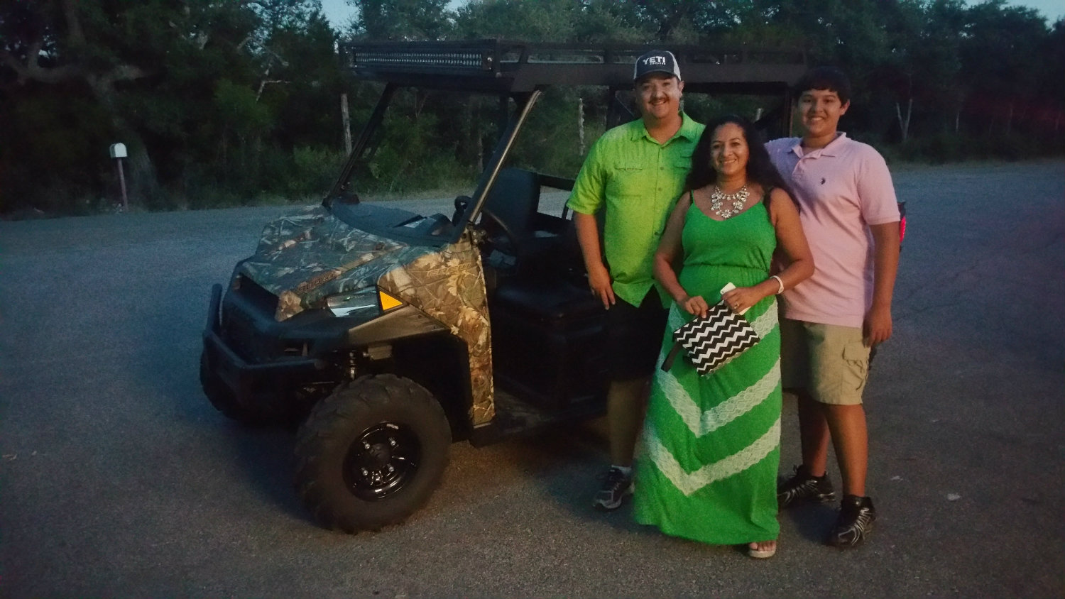 Ranch Armor Polaris Ranger Crew Metal Roof with happy customers picking up