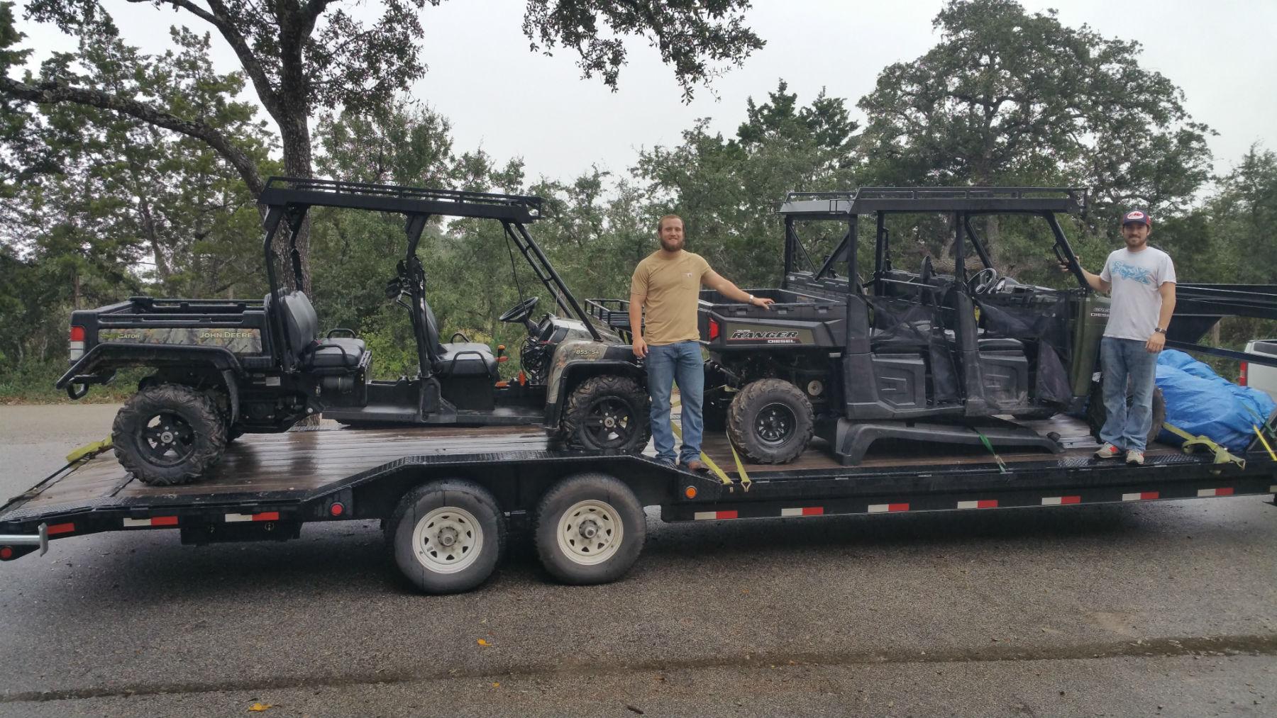 Customer photo of a John Deere Gator XUV and Polaris Ranger Crew with Metal Tops