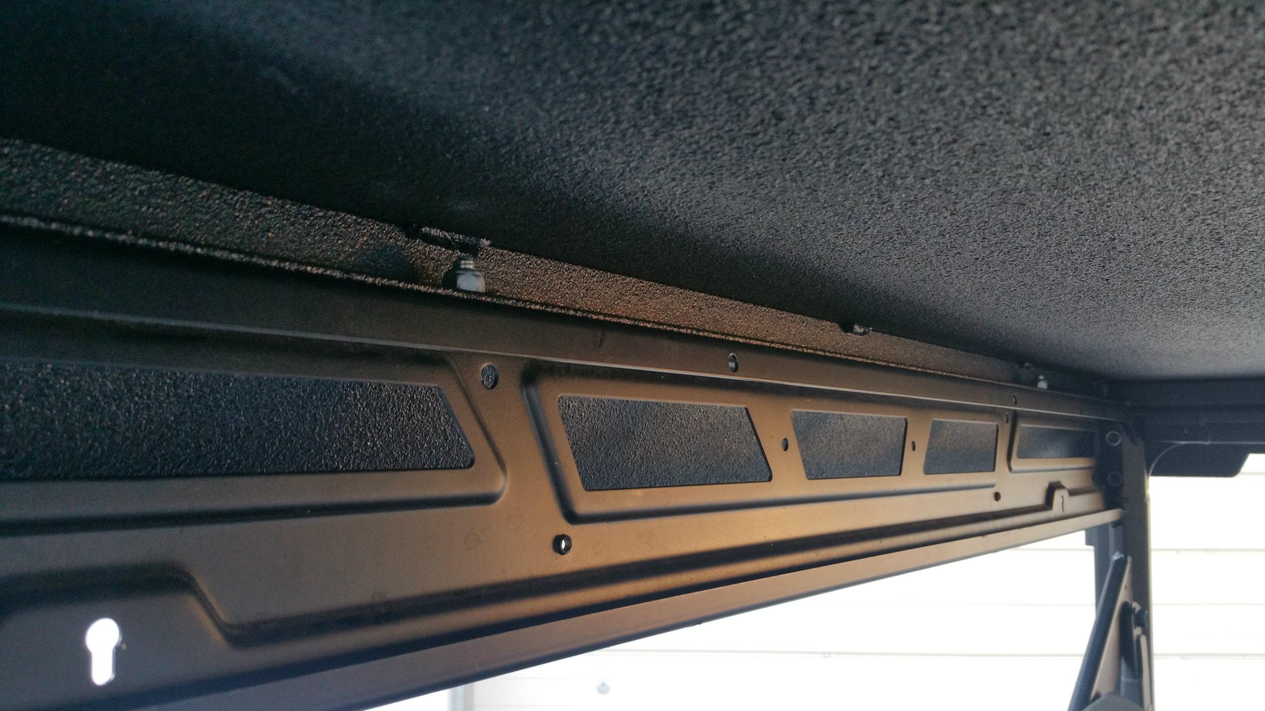 One Piece Polaris Ranger Metal Roof Underside mounted to frame