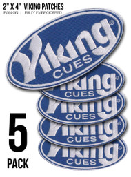 "5-PACK 2"" x 4"" Viking Iron-On Patches"