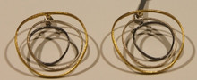 Sarina silver & gold plated earings