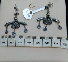 Silver Minoan Bee Earings