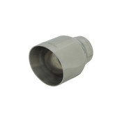 Flowmaster  Exhaust Tip - 2.5 x 4.5 in Angle Cut Polished SS Fits 2.50 in.