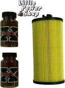 Free 03-07 6.0 Powerstroke Oil Filter with 2 REV X Oil Additive 4oz Bottles
