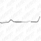 "MBRP 2003-2007 Ford Powerstroke 6.0 4"" Turbo Back (Stock Cat) Exhaust Kit"