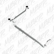 """MBRP 2003-2007 Ford Powerstroke 6.0L Turbo Back, Dual 5"""" SMOKERS Stack Kit"""