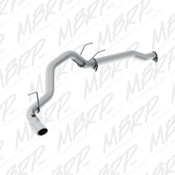 "MBRP 2014 Dodge Ram 1500 3.0L Ecodiesel 3.5"" Filter Back, Single Side Exit, T409"