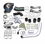 ATS Diesel Aurora 4000 Turbo Kit - 1999-03 Ford 7.3L, complete with all hardware, 4-inch downpipe, up-pipes, and pedestal.