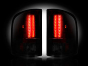 07-12 GMC Sierra LED Tail Lights Dark Red Smoked Lens