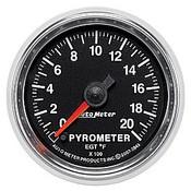 Autometer 2-1/16 In. Pyrometer, 0- 2000`F, Fse, Gs